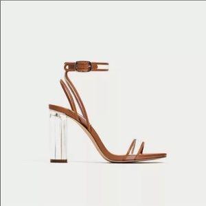 Zara clear block heels size 41